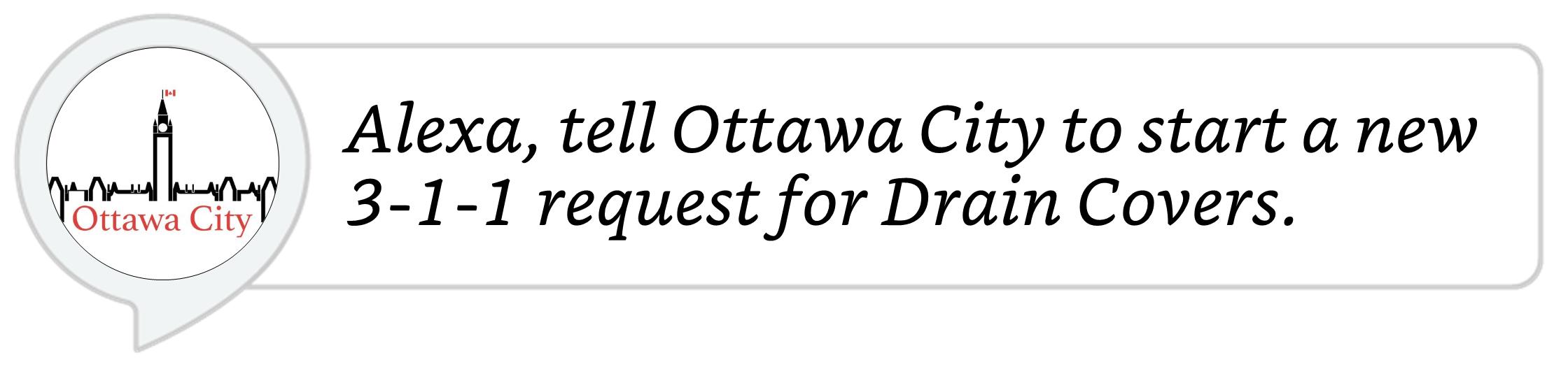 Ottawa City 311 service utterance
